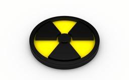 ilustração 3d do sinal da radiação Fotos de Stock Royalty Free