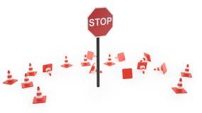 ilustração 3d do sinal de tráfego Foto de Stock