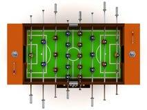 ilustração 3D do vetor do jogo de mesa da tabela do futebol e do futebol Imagens de Stock