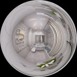 ilustração 3d 360 graus, panorama sem emenda do banheiro inter Foto de Stock