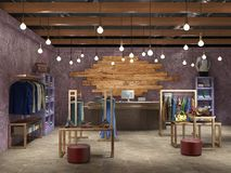 Ilustração 3d interior do boutique Imagem de Stock Royalty Free