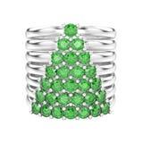 a ilustração 3D isolou o diamante decorativo do ouro branco ou da prata Imagem de Stock Royalty Free