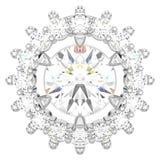 a ilustração 3D isolou o halo do detalhe do ouro branco ou da prata Fotos de Stock Royalty Free
