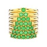 a ilustração 3D isolou wi decorativos dos aneis de diamante do ouro amarelo Imagem de Stock Royalty Free