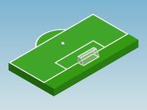 ilustração 3D isométrica do objetivo do futebol Foto de Stock Royalty Free