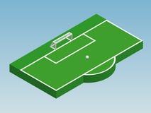 ilustração 3D isométrica do objetivo do futebol Foto de Stock