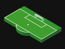 ilustração 3D isométrica do objetivo do futebol Imagens de Stock
