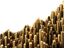 Ilustração 3d luxuosa do ouro do gráfico do sucesso da finança do negócio Fotos de Stock