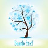 Ilustração da árvore da estação do inverno Imagem de Stock Royalty Free