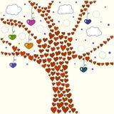 Ilustração da árvore de amor Fotografia de Stock Royalty Free