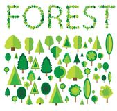 Ilustração da árvore de floresta Fotos de Stock