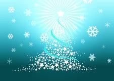 Ilustração da árvore de Natal. Foto de Stock