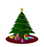 Ilustração da árvore de Natal Imagens de Stock