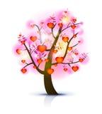 Ilustração da árvore do coração Foto de Stock