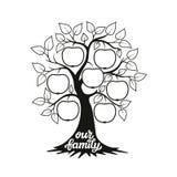 Ilustração da árvore genealógica com um título Imagens de Stock