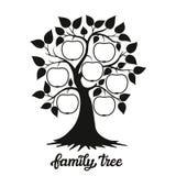 Ilustração da árvore genealógica com um título Fotografia de Stock