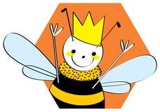 Ilustração da abelha de rainha Foto de Stock