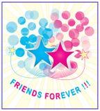 Ilustração da amizade Fotografia de Stock