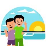 Ilustração da amizade Foto de Stock Royalty Free