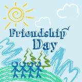 Ilustração da amizade Foto de Stock