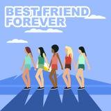 Ilustração da amizade Imagens de Stock Royalty Free