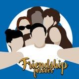 Ilustração da amizade Imagens de Stock