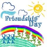 Ilustração da amizade Imagem de Stock Royalty Free