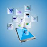 Ilustração da aplicação do móbil do conceito Imagem de Stock
