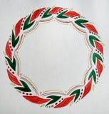 Ilustração da aquarela com grinalda do Natal foto de stock royalty free