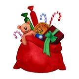 Ilustração da aquarela de Santa Claus Imagem de Stock Royalty Free
