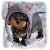 Ilustração da aquarela do cachorrinho Fotografia de Stock Royalty Free