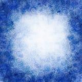 Ilustração da aquarela do inverno quadro redondo com blizzard dos redemoinhos Imagens de Stock