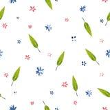 Ilustração da aquarela, teste padrão de flores bonito Fotos de Stock
