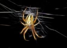 Ilustração da aranha amarela Fotografia de Stock Royalty Free