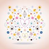 Ilustração da arte abstrata Fotos de Stock Royalty Free