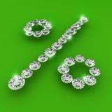 Ilustração da arte do diamante da forma da taxa de interesse Fotos de Stock