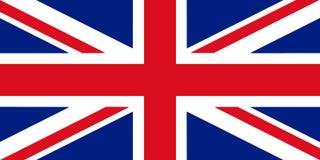 Ilustração da bandeira 3D de Grâ Bretanha ilustração royalty free