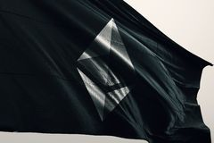 Ilustração da bandeira 3d do cryptocurrency de Ethereum ETH ilustração do vetor