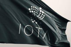 Ilustração da bandeira 3d do cryptocurrency do TRAÇO ilustração do vetor