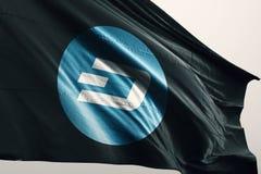 Ilustração da bandeira 3d do cryptocurrency do TRAÇO ilustração royalty free