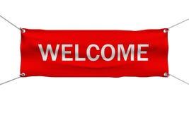Bandeira do mensagem de boas-vindas isolada Imagens de Stock