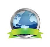 Ilustração da bandeira da terra e do ambiente Imagens de Stock Royalty Free