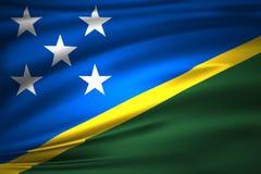 Ilustração da bandeira das ilhas de Salomon ilustração royalty free