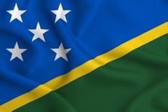 Ilustração da bandeira das ilhas de Salomon ilustração stock