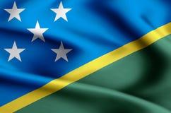 Ilustração da bandeira das ilhas de Salomon ilustração do vetor