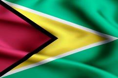 Ilustração da bandeira de Guiana ilustração stock