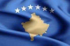 Ilustração da bandeira de Kosovo ilustração do vetor