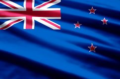 Ilustração da bandeira de Nova Zelândia ilustração stock
