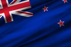 Ilustração da bandeira de Nova Zelândia ilustração royalty free