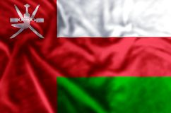 Ilustração da bandeira de Omã ilustração stock